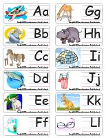 Étiquettes-mots-Alphabet
