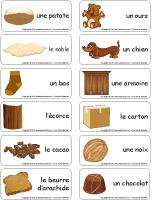 Étiquettes-mots-Aout en brun