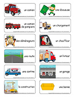 Étiquettes-mots-Camions