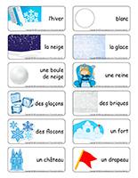 Étiquettes-mots-Châteaux de neige