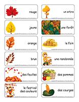 Étiquettes-mots-Couleurs d'automne