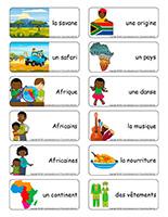 Étiquettes-mots-Découvrons l'Afrique