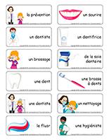 Étiquettes-mots-Dentiste