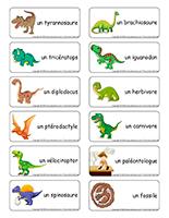Étiquettes-mots-Dinosaures
