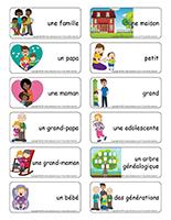 Étiquettes-mots-Famille
