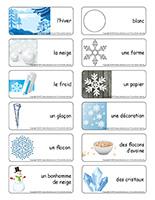 Étiquettes-mots-Flocons de neige