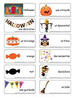 Étiquettes-mots-Halloween-Les décorations
