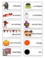 Étiquettes-mots-Halloween
