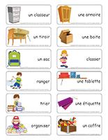 Étiquettes-mots-J'apprends à classer