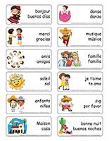 Étiquettes-mots-Je parle espagnol