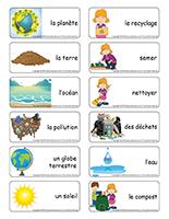 Étiquettes-mots-Jour de la Terre