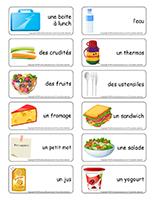 Étiquettes-mots-La boite à lunch