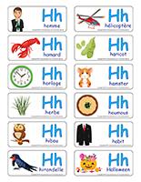 Étiquettes-mots-La lettre H