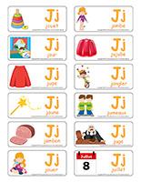 Étiquettes-mots-La lettre J