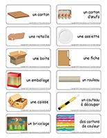 Étiquettes-mots-Le carton