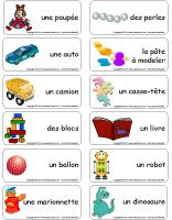 Étiquettes-mots-Le coffre à jouets