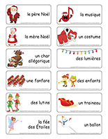 Étiquettes-mots-Le défilé du père Noël