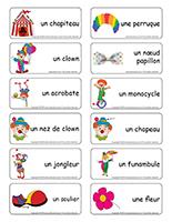 Étiquettes-mots-Les clowns