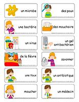 Étiquettes-mots-Les microbes