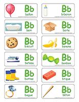 Étiquettes-mots-Lettre B