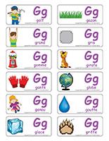 Étiquettes-mots-Lettre G
