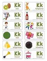 Étiquettes-mots-Lettre K