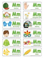 Étiquettes-mots-Lettre M