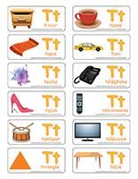 Étiquettes-mots-Lettre T