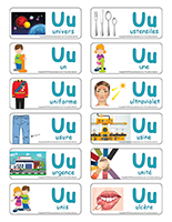 Étiquettes-mots-Lettre U