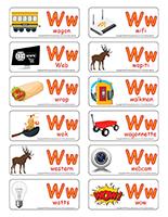 Étiquettes-mots-Lettre W