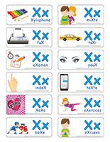 Étiquettes-mots-Lettre X