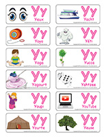 Étiquettes-mots-Lettre Y