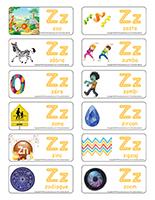 Étiquettes-mots-Lettre Z