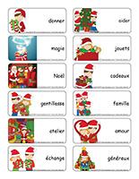 Étiquettes-mots-Magie de Noël