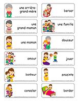 Étiquettes-mots-Mamans et grands-mamans