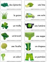 Étiquettes-mots-Mars en vert