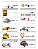 Étiquettes-mots-Moyens de transports