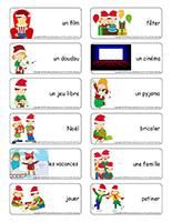 Étiquettes-mots-Noël-Jeux libres