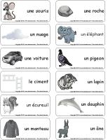 Étiquettes-mots-Novembre en gris