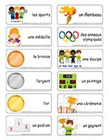 Étiquettes-mots-Olympiades d'été