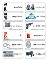 Étiquettes-mots-Policiers-Policières