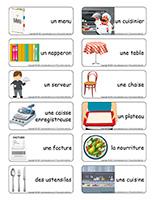 Étiquettes-mots-Restaurant