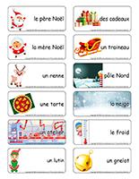 Étiquettes-mots-Royaume du père Noël