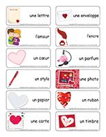 Étiquettes-mots-Saint-Valentin-Lettres d'amour