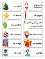 Étiquettes-mots-Sapin de Noël
