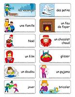 Étiquettes-mots-Vacances de Noel