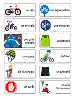Étiquettes-mots-Vélos et tricycles