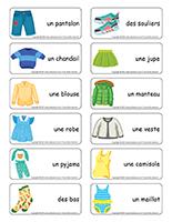 Étiquettes-mots-Vêtements