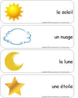 Étiquettes-mots géants - Jour et nuit