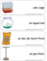 Étiquettes-mots géants - L'animalerie